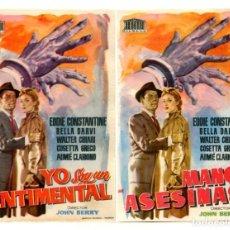 Cine: YO SOY UN SENTIMENTAL Y MANOS ASESINAS, CON EDDIE CONSTANTINE.. Lote 269651553