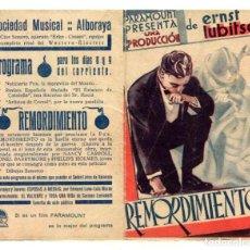 Cine: REMORDIMIENTO, CON NANCY CARROLL.. Lote 269655253