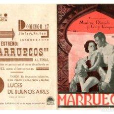Cine: MARRUECOS,CON GARY COOPER.. Lote 269689883