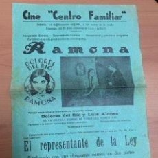 """Cine: FOLLETO DE CINE ANTIGUO """"RAMONA"""".DOLORES DEL RÍO.1929.ARTISTAS ASOCIADOS.. Lote 269812733"""