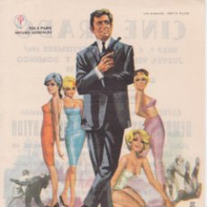 Cine: PROGRAMA DE CINE – DEMASIADAS MUJERES PARA LAYTON – ROGER HANIN – CINE PRADO – 1967. Lote 269971238