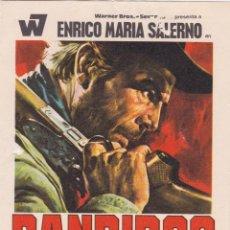 Cine: PROGRAMA DE CINE – BANDIDOS – ENRICO MARIA SALERNO – S/P. Lote 269973743