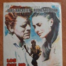 Cine: PROGRAMA DE MANO : LOS QUE NO PERDONAN / BURT LANCASTER. Lote 269994038