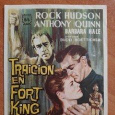 Cine: PROGRAMA DE MANO : TRAICIÓN EN FORT KING. Lote 269994783