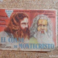 Cine: FOLLETO DE MANO DE LA PELÍCULA EL CONDE DE MONTECRISTO. Lote 270110408