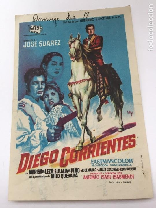 DIEGO CORRIENTES (Cine - Folletos de Mano - Clásico Español)