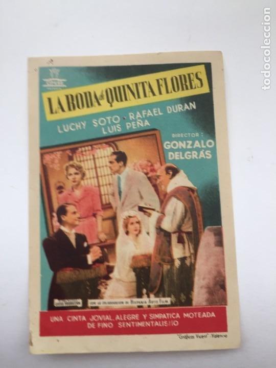 LA BODA DE QUINITA FLORES (Cine - Folletos de Mano - Clásico Español)