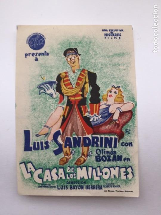 LA CASA DE LOS MILLONES (Cine - Folletos de Mano - Clásico Español)