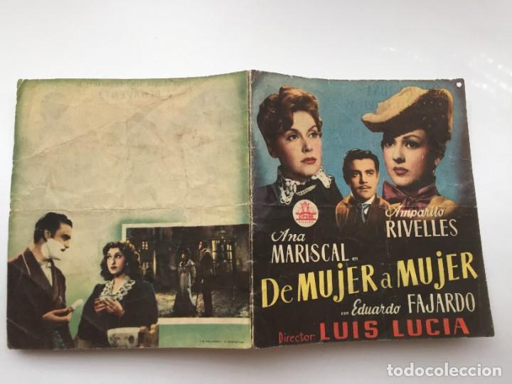 DE MUJER A MUJER (Cine - Folletos de Mano - Clásico Español)