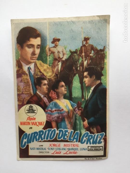 CURRITO DE LA CRUZ (Cine - Folletos de Mano - Clásico Español)
