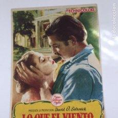 Cine: LO QUE EL VIENTO SE LLEVÓ. Lote 270151438