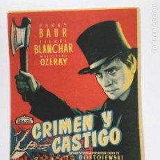 Cine: CRIMEN Y CASTIGO. Lote 270151718