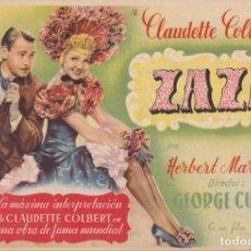 Cine: ZAZA .- CLAUDETTE COLBERT. Lote 270166253