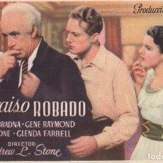 Cine: PARAISO ROBADO .- OLIMPIA BRADNA. Lote 270167513