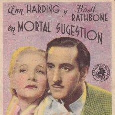 Cine: MORTAL SUGESTION .- ANN HARDING. Lote 270175213