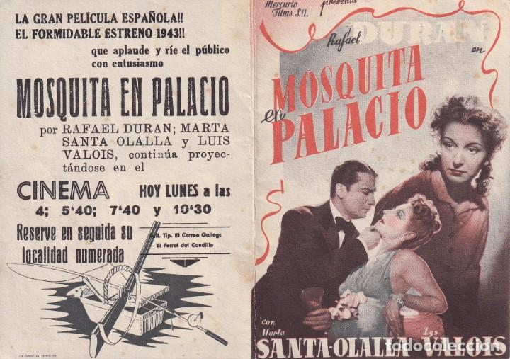 MOSQUITA EN PALACIO .- RAFAEL DURAN (Cine - Folletos de Mano - Clásico Español)