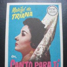 Cine: CANTO PARA TÍ, MARIFÉ DE TRIANA. Lote 270194783