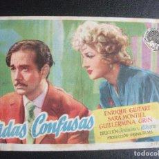 Cine: VIDAS CONFUSAS, SARA MONTIEL, CINE PEQUEÑO CASINO, SAN SEBASTIAN. Lote 270195048