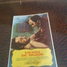 Cine: PROGRAMA DE MANO ORIG - VIENTO DE SIGLOS - CON CINEMA SALAMANCA IMPRESO AL DORSO. Lote 270203143