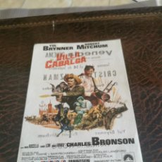 Folhetos de mão de filmes antigos de cinema: PROGRAMA DE MANO ORIG - VILLA CABALGA- CON CINE VENECIA IMPRESO AL DORSO. Lote 270203318