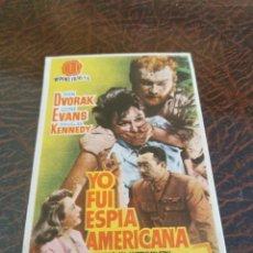 Cine: PROGRAMA DE MANO ORIG - YO FUI ESPIA AMERICANA - CON CINE DE LEON IMPRESO AL DORSO. Lote 270204668