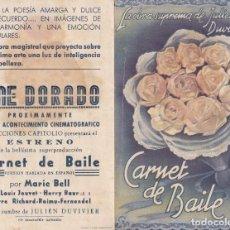 Cine: CARNET DE BAILE .- MARIE BELL. Lote 270205763
