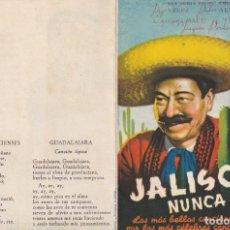 Cine: JALISCO NUNCA PIERDE .- JORGE VELEZ. Lote 270209653