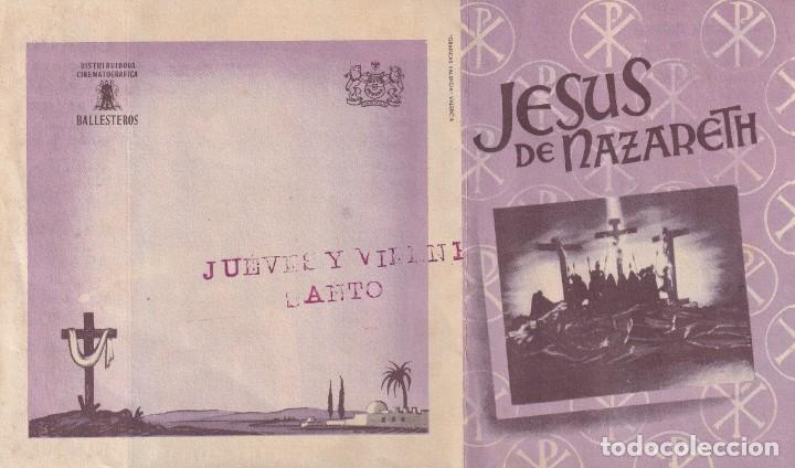 JESUS DE NAZARETH .- JOSE CEBRIAN (Cine - Folletos de Mano - Clásico Español)
