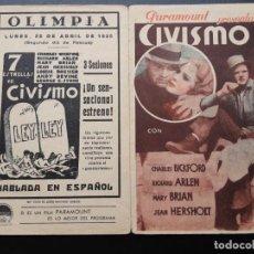 Cine: CIVISMO, CHARLES BRICKFORD, PARAMOUNT 1935. Lote 270215263