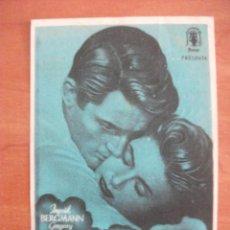 Cine: RECUERDA, INGRID BERGMAN, GREGORU PECK, TEATRO BERGIDUM, 1948. Lote 270518373