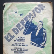 Cine: EL DEFENSOR. Lote 270518638