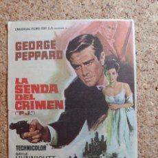 Cine: FOLLETO DE MANO DE LA PELÍCULA LA SENDA DEL CRIMEN CON PUBLICIDAD. Lote 270795073