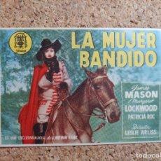 Cine: FOLLETO DE MANO DE LA PELÍCULA LA MUJER BANDIDO. Lote 270866438