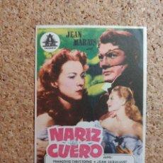 Cine: FOLLETO DE MANO DE LA PELÍCULA NARIZ DE CUERO. Lote 270866773