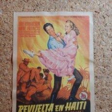 Cine: FOLLETO DE MANO DE LA PELÍCULA REVUELTA EN HAITÍ. Lote 270875283