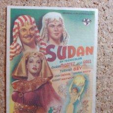 Cine: FOLLETO DE MANO DE LA PELÍCULA SUDAN. Lote 270880728