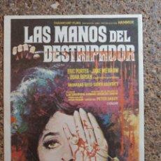 Folhetos de mão de filmes antigos de cinema: FOLLETO DE MANO DE LA PELÍCULA LAS MANOS DEL DESTRIPADOR. Lote 271029568