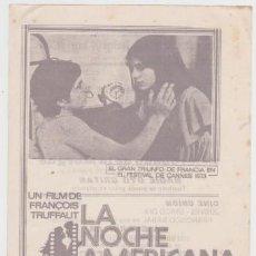 Cine: LA NOCHE AMERICANA (CON PUBLICIDAD). Lote 271693348