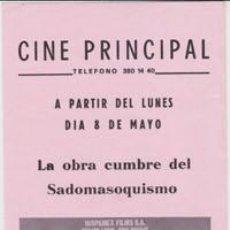 Cine: HISTORIA DE O (CON PUBLICIDAD). Lote 271693593