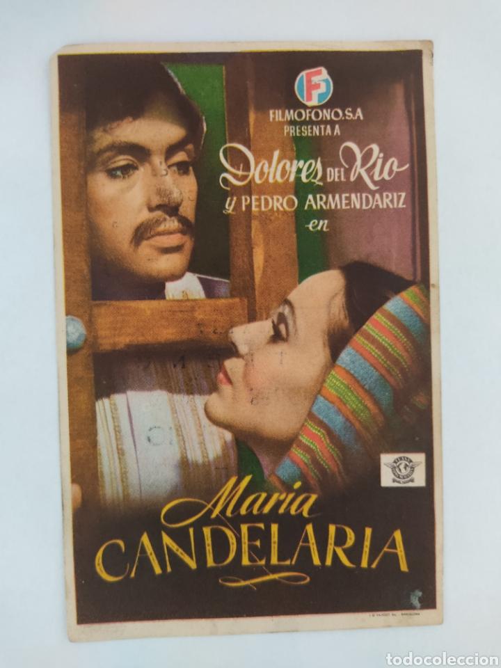 MARIA CANDELARIA DOLORES DEL RIO FILMOFONO SALON JEREZ AÑO 1945 (Cine - Folletos de Mano - Clásico Español)