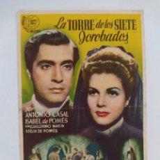 Cine: LA TORRE DE LOS SIETE JOROBADOS ANTONIO CASAL ISABEL DE POMES SALON JEREZ AÑO 1945. Lote 271805578