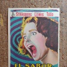 Folhetos de mão de filmes antigos de cinema: FOLLETO DE MANO DE LA PELÍCULA EL SABOR DEL MIEDO. Lote 271919458