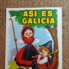 Cine: FOLLETO DE MANO DE LA PELÍCULA ASI ES GALICIA. Lote 271923088