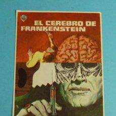 Cine: EL CEREBRO DE FRANKENSTEIN. PETER CUSHING - VERONICA CARLSON. SIN PUBLICIDAD. Lote 272170528