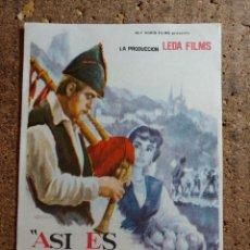 Cine: FOLLETO DE MANO DE LA PELÍCULA ASÍ ES ASTURIAS. Lote 272232673