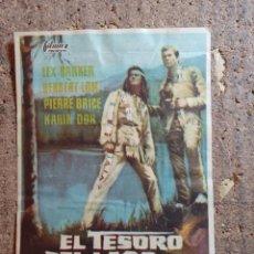 Flyers Publicitaires de films Anciens: FOLLETO DE MANO DE LA PELÍCULA EL TESORO DEL LAGO DE LA PLATA. Lote 272556338
