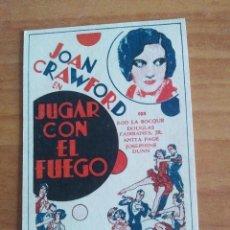 Cine: Z-PROGRAMA DE CINE-- JUGAR CON EL FUEGO. Lote 272724973