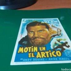 Cine: ANTIGUO PROGRAMA DE CINE MOTÍN EN EL ÁRTICO. SALONES ROSA, MERCANTIL Y ASTORIA. Lote 272738838