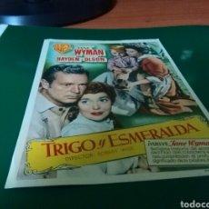 Cine: ANTIGUO PROGRAMA DE CINE GRANDE. TRIGO Y ESMERALDA. CINE BARCELÓ DE LLAGOSTERA. Lote 272740563