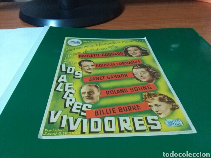 ANTIGUO PROGRAMA DE CINE GRANDE. LOS ALEGRES VIVIDORES. CINE MUNDIAL. 1945 (Cine - Folletos de Mano - Comedia)
